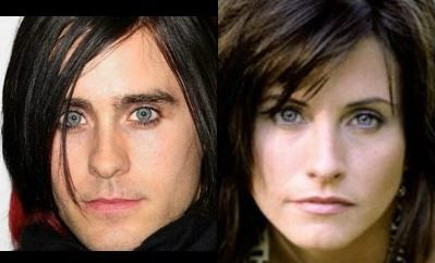 Jared Leto and Courteney Cox